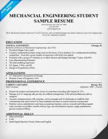 resume objective for college student internships free resume sles for mechanical engineers