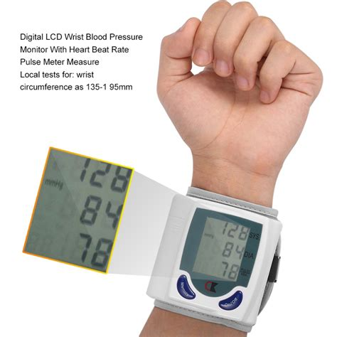 Health Care Automatic Digital LCD Wrist Blood Pressure