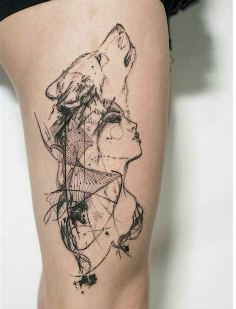 Image Result For Wolf Girl Tattoo Tattoo Ideas