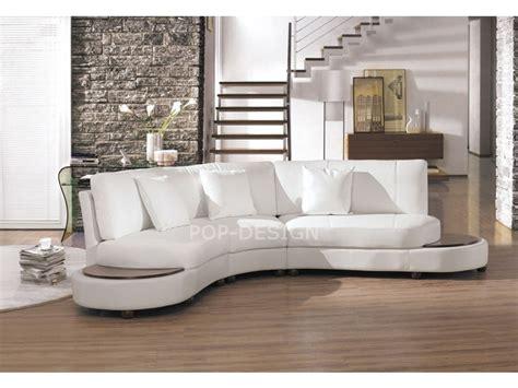 canapé design demi lune en cuir foggia pop design fr