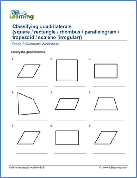 grade 5 geometry worksheets free printable k5 learning