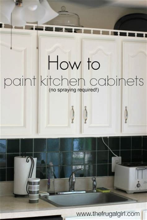 how to paint kitchen cabinets how to paint kitchen cabinets the frugal 8814