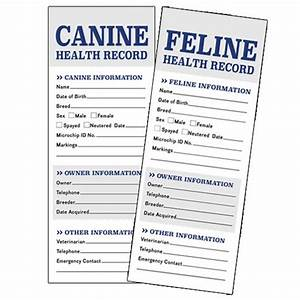 health records With pet health record template