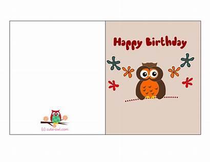 Birthday Cards Printable Owl Card Happy Adult
