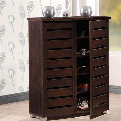 cabinet shelving kitchen baxton studio warren wood shoe storage cabinet in 6516