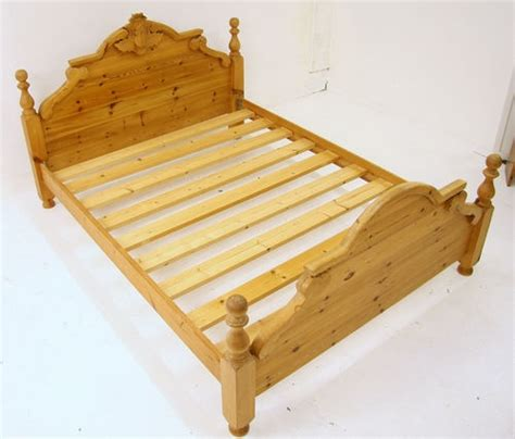 King Size Pine Headboards by King Size Bed Solid Pine Carved Thistle On Headboard