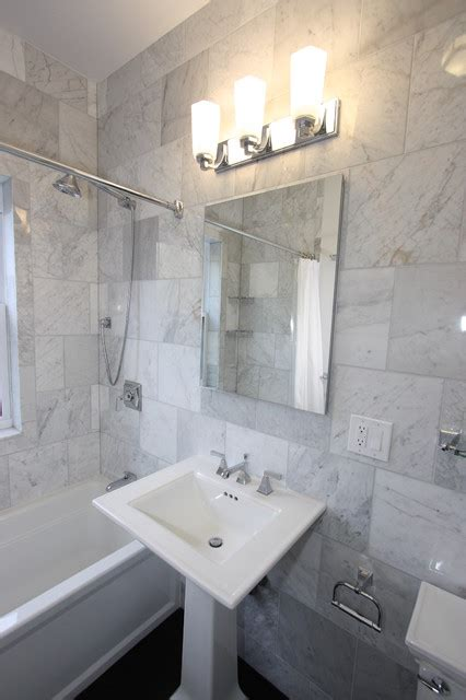 Kohler Memoirs Pedestal Sink by Andersonville Marble Bathroom Eclectic Bathroom