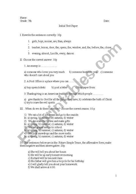 grade thanksgiving worksheets preschool  worksheets