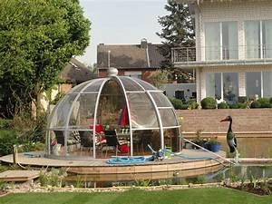glaspavillon drehbar kaufen runde pavillons aus glas With französischer balkon mit garten iglu norma