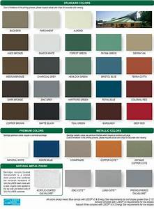 Berridge Color Chart Metal Roof Galvalume Roof Color Zinc Grey Or Charcoal
