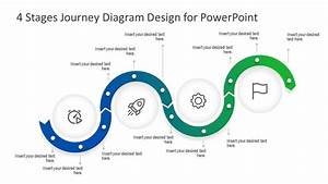 4 Steps Journey Timeline Powerpoint