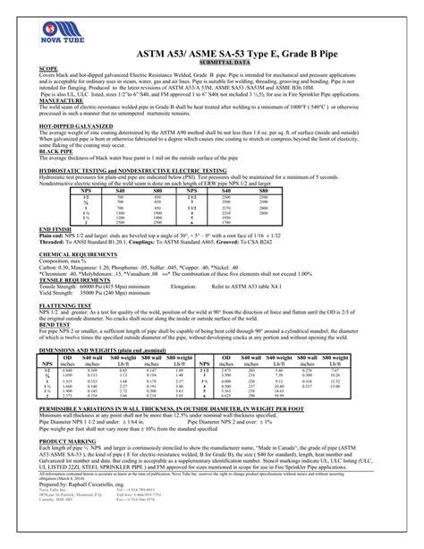 ASTM A53/ ASME SA-53 Type E, Grade B Pipe