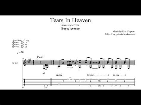 tears  heaven tab boyce avenue acoustic