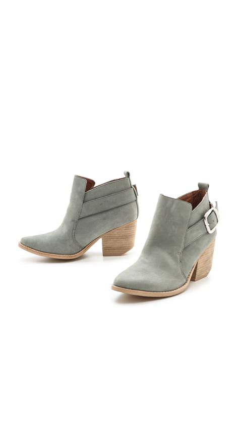 light grey booties jeffrey cbell jonas buckle western booties