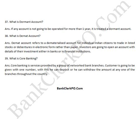 Accounts Clerk Questions And Answers by Top Questions With Answers Sbi Ibps Po Clerk