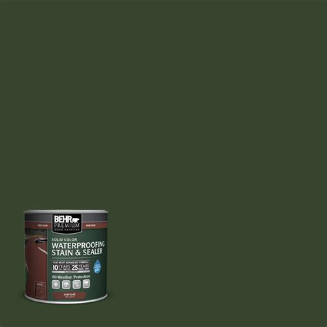 Behr Solid Color Waterproofing Stain And Sealer