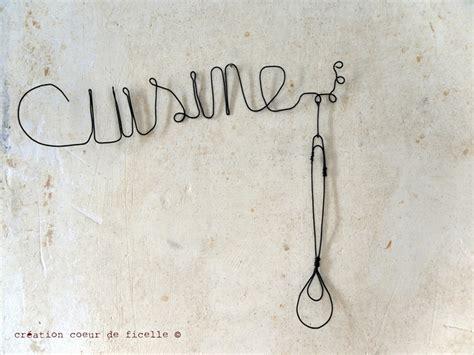 mot cuisine deco deco murale mot cuisine en fil de fer déco fil de fer