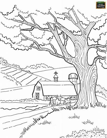 Coloring Farm Adult Animal Agricultural Colouring Printable
