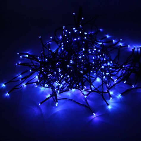 blue outdoor christmas lights 200 led blue light outdoor waterproof christmas decoration