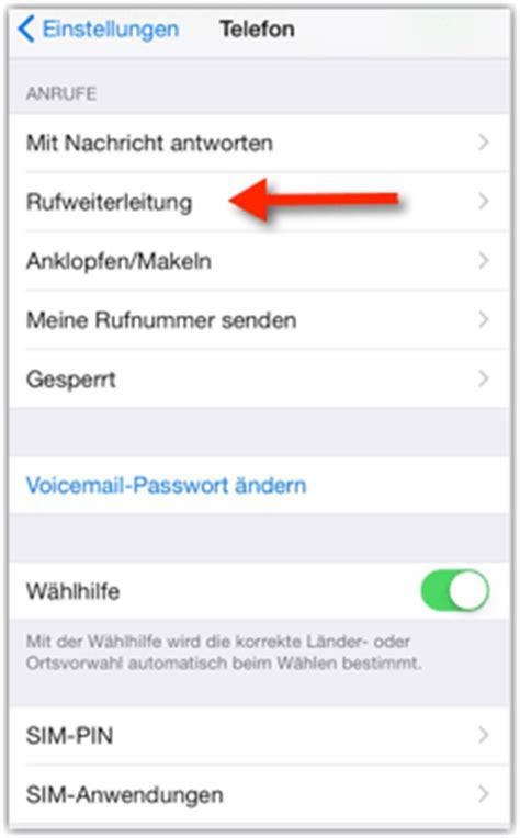 iphone rufumleitung aktivieren bzw deaktivieren techfrage