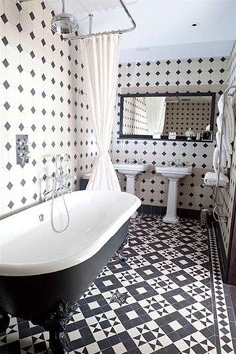 Black And White Tile Bathrooms 21 Black And White Bathroom Floor Tiles Ideas