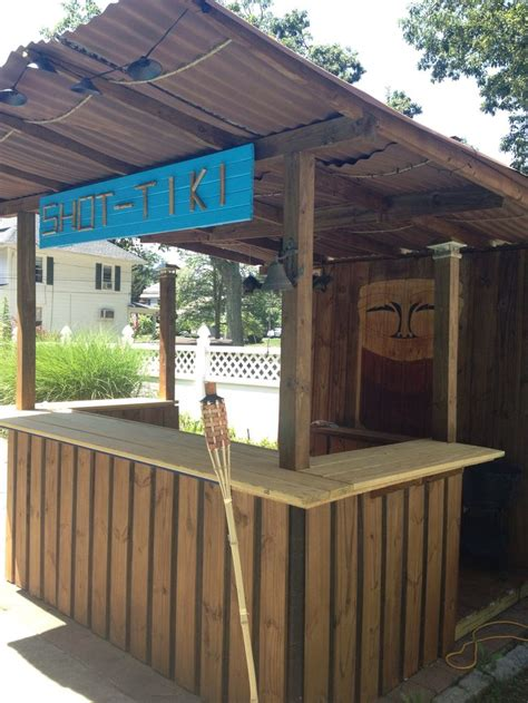 Make A Tiki Bar by Diy Tiki Bar My Hubby Built House Dreams