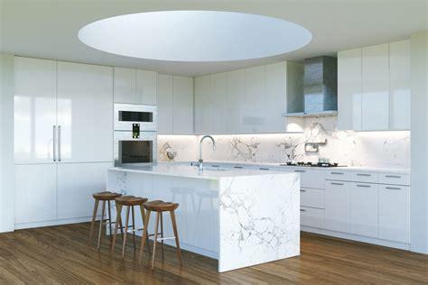 waterfall kitchen island waterfall kitchen islands trending kitchen design 3362