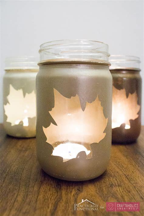craftaholics anonymous diy fall leaf mason jar