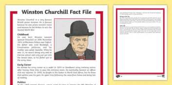 Winston Churchill KS2 Fact File - History Resource - Twinkl