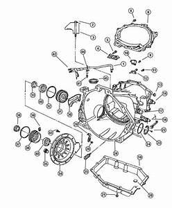 1999 Dodge Intrepid Cover  Transaxle Differential  Case  Related  Top