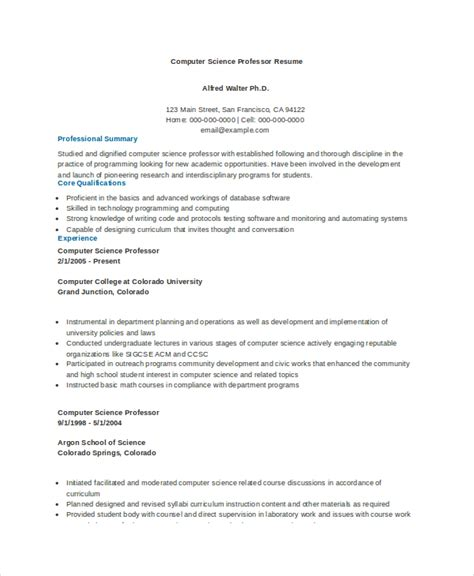 computer science resume template   workers