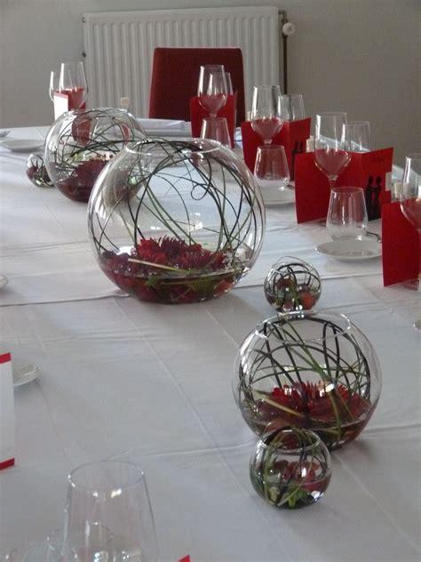 mariage rouge  noir table dhonneur deco mariage