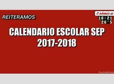 Calendario Escolar SEP 20172018 La Economia de Hoy