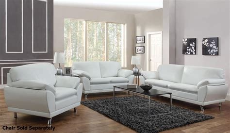 White Leather Sofa And Loveseat by Coaster Robyn 504541 504542 White Leather Sofa And