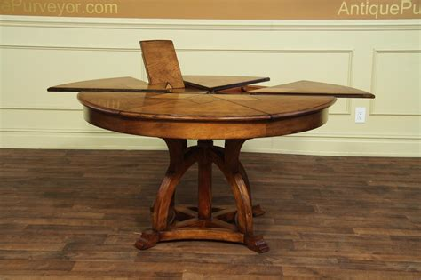 solid walnut jupe tablearts  craft expandable dining table