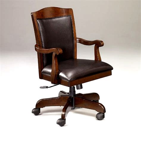 wood and leather desk chair mission furniture shaker craftsman furniture