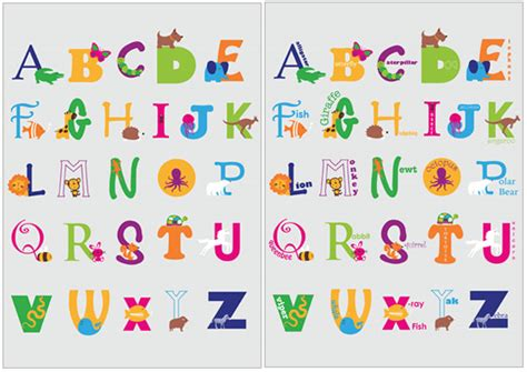 early learning resourcess animal alphabet posters