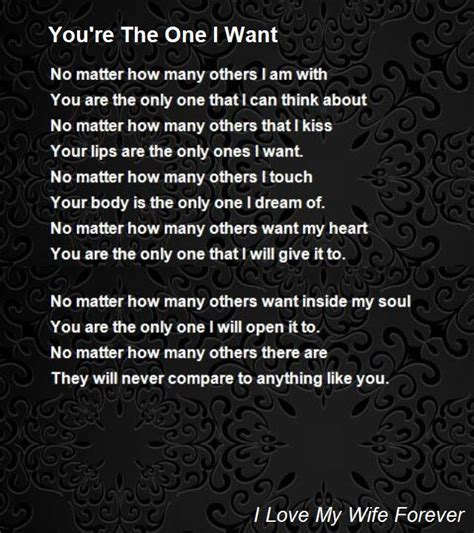 you the one i want quotes