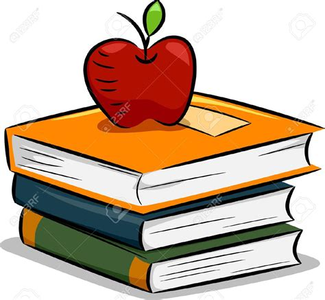 books clipart apple and books clipart 101 clip