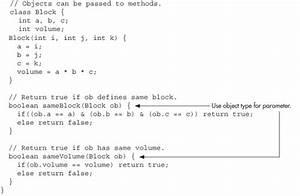 Pass Objects To Methods