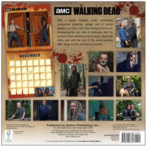 amc walking dead wall calendar rsvp