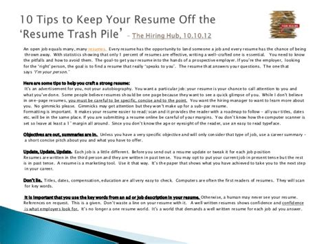 ask the recruiter resume writing tips