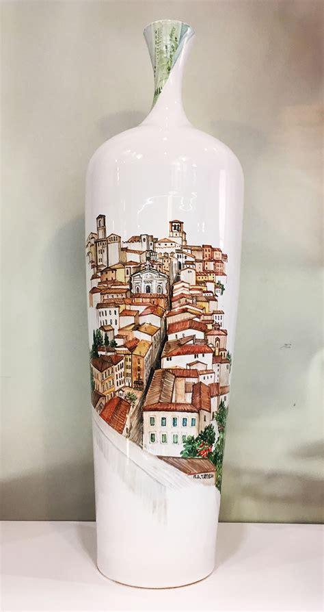 vaso in ceramica vaso in ceramica perugia collezione paesaggio materia