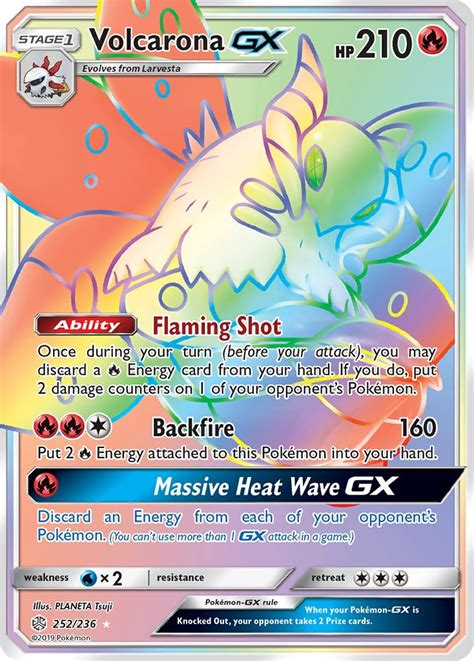 Being able to place damage counters on any of your opponent's pokemon can make taking prize my top pokemon from cosmic eclipse might not be the most powerful, but it has the potential to be the most devastating to play against. Volcarona GX 252/236 SM Cosmic Eclipse Holo Hyper Rainbow ...
