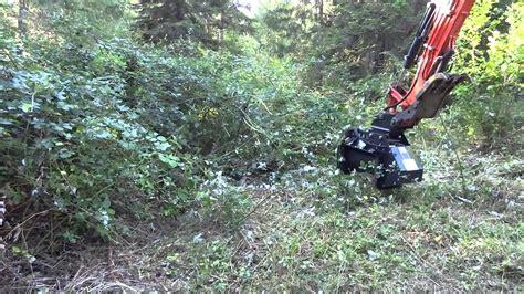 defender brush mulcher  rockhound attachments  kubota excavator youtube