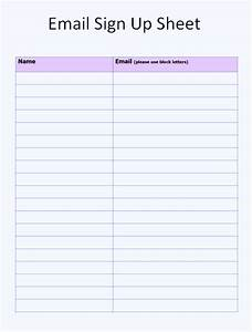 free sign up sheet template word excel With email mailing list template