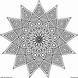 Kaleidoscope Coloring Pages Printable Adults Patterns Getcolorings sketch template