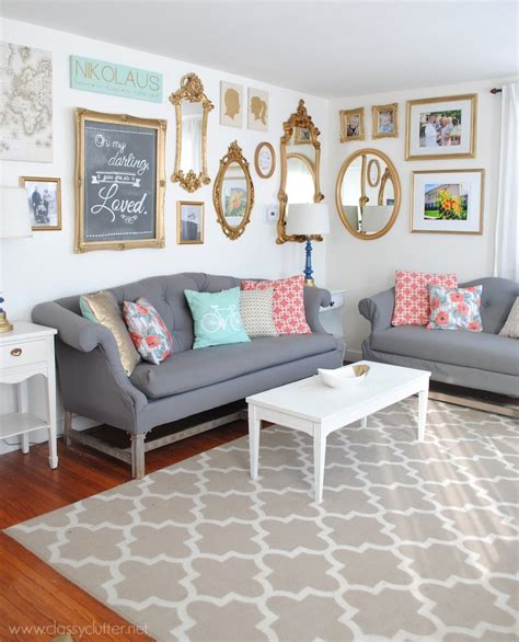 Living Room Decor Photo Gallery by Gold Gallery Wall