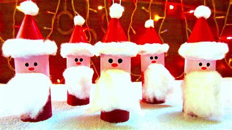 toilet paper roll santa claus crafts