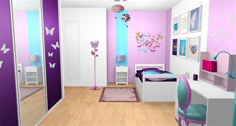 d 233 coration chambre fille violet